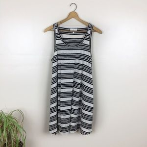[Lou & Grey] Black & White Striped Tank Dress
